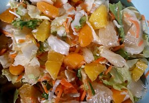Zeleninový salát s citrusy