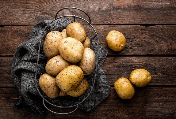 Zapečené brambory s masem a smetanou