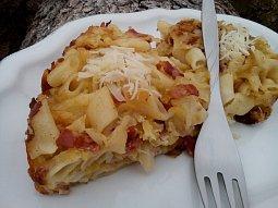 Kapustové těstoviny - zapékané