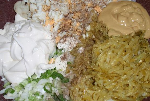 Květákový salát (nejen) s vejci