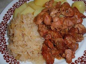 Pečené kuřecí žaludky