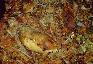 Řecké kuře v peřince