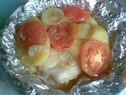 Pstruh na rajčatech