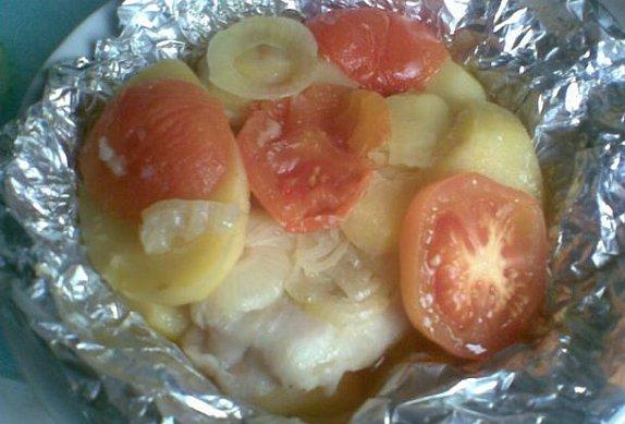 Pstruh na rajčatech photo-0
