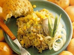 Cibulový salát s houbami