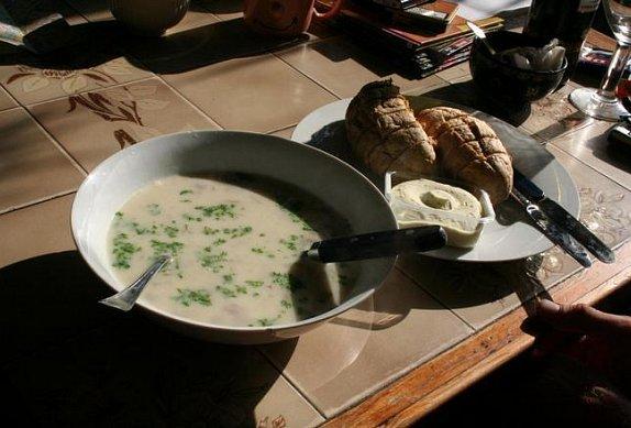 Krémová žampionová polévka