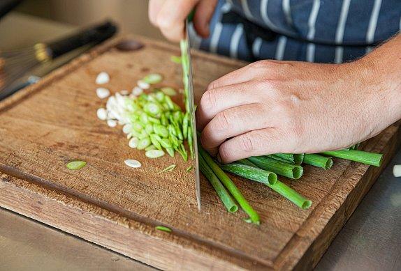 Smažená rýže se zeleninou a krůtím masem