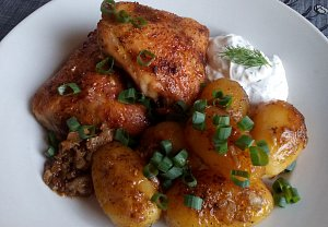 Kuře na bramborách z remosky