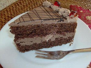 Čokoládovo-tvarohový dort