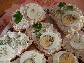 Česneková surimi (krabí) pomazánka