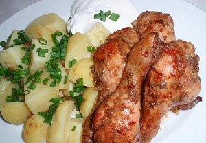 Česnekovo-zázvorové kuřecí (nejen) paličky