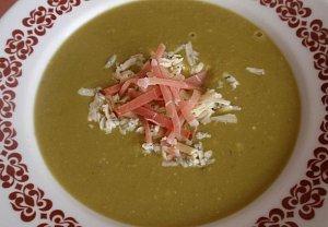 Hrášková polévka - sýrová