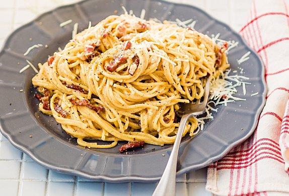 Špagety ala carbonara