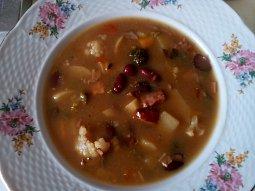 Chalupářská hrstková polévka