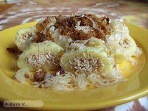 Plněné bezmasé bramborové knedlíky