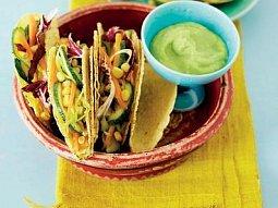 Kukuřičné tacos s grilovanou cuketou