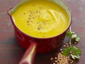 Čočková polévka s kokosovým mlékem