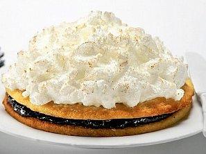Černobílý vánoční dort