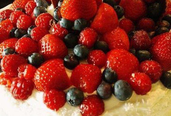 Kokosový dort s ovocem photo-0