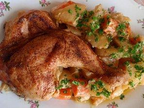 Kuře (nejen) na bramborách