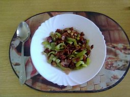 Paprikový salát na pánvi