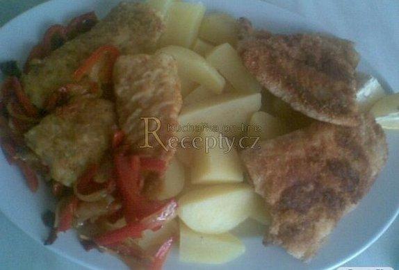Pangasius se sušenými rajčaty a paprikami