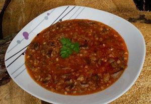 Houbová polévka s pohankou