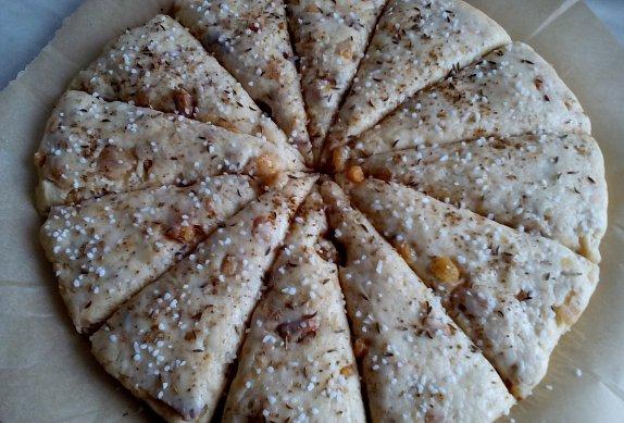 Škvarkový koláč (placky)