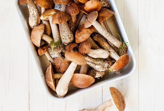 Topinky s houbami a čedarem