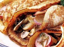 Bramborové omelety s houbami