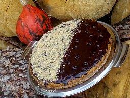 Píchaná ořechová (kokosová) buchta z dýně