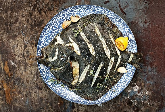 Pečená kambala s tymiánem