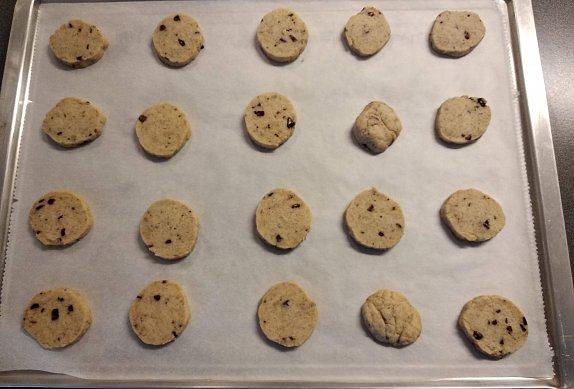 Máslové sušenky s čokoládou