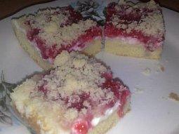 Rybízový koláč s tvarohem I.