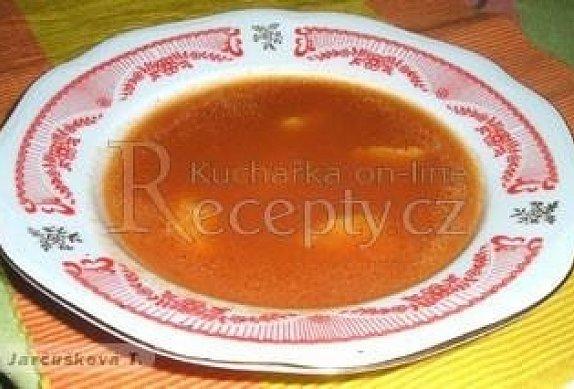 Rajská polévka s krupicovými haluškami