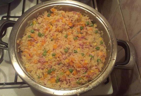 Rychlé rizoto z uzeného kuřete
