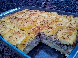 Zapékané brambory (těstoviny) s kapustovou směsí