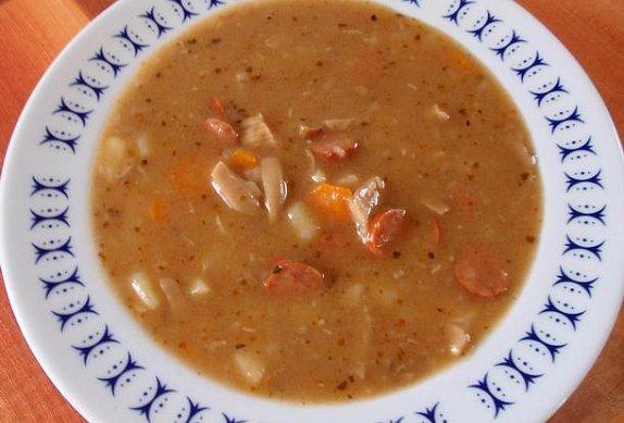 Frankfurtská polévka s hlívou photo-0