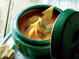 Kdoulová polévka s kokosem