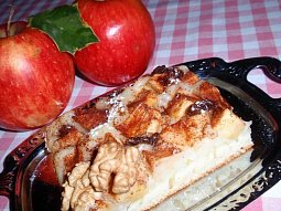 Kokosovo-kefírový koláč s ovocem
