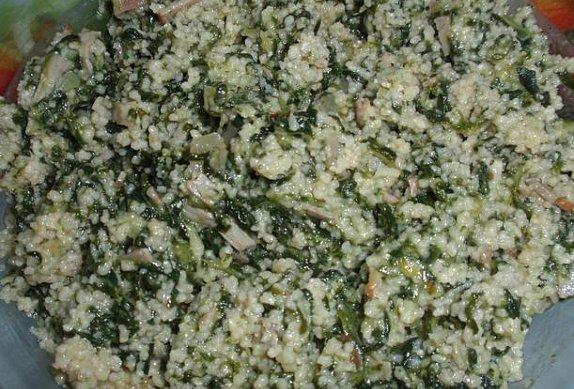 Špenátový kuskus