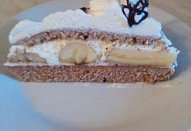 Šlehačkový dort s banány