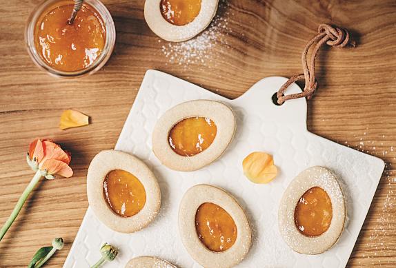 Špaldové sušenky s meruňkovou marmeládou