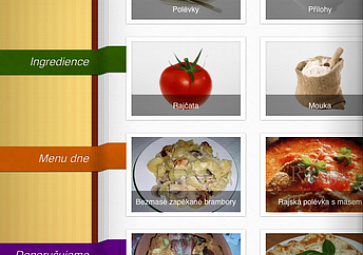 Recepty.cz jako přehledná interaktivní kuchařka v iPadu